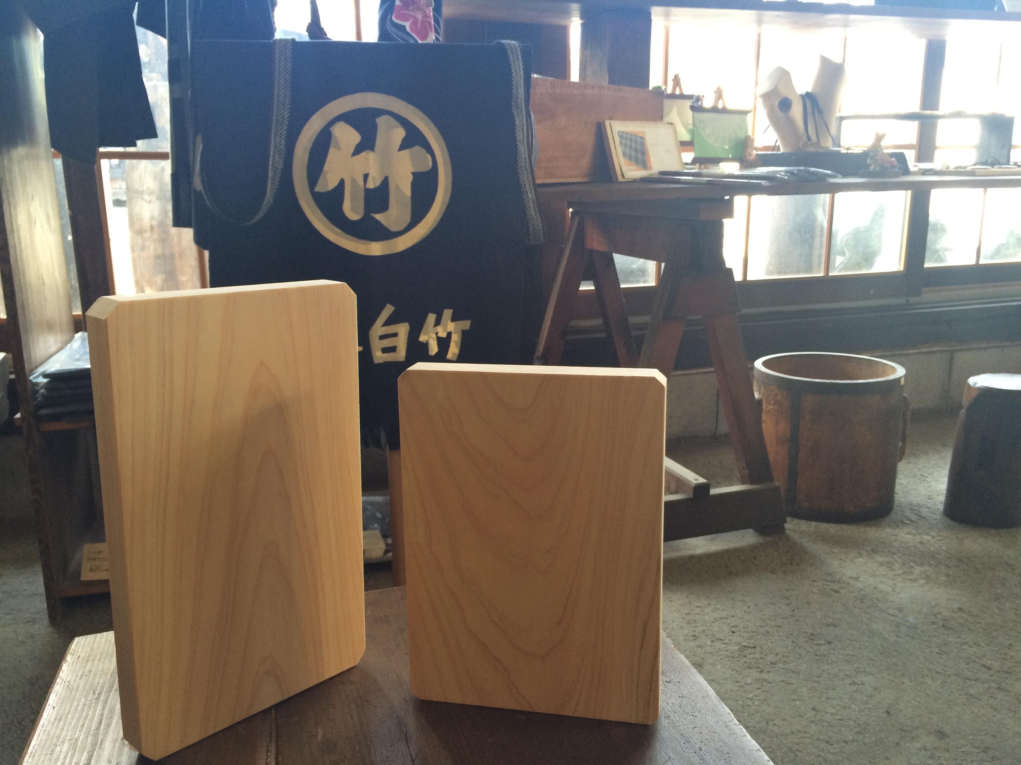 古材家具ショップ白竹木材の「ひのきのまな板」 新サイズ登場!