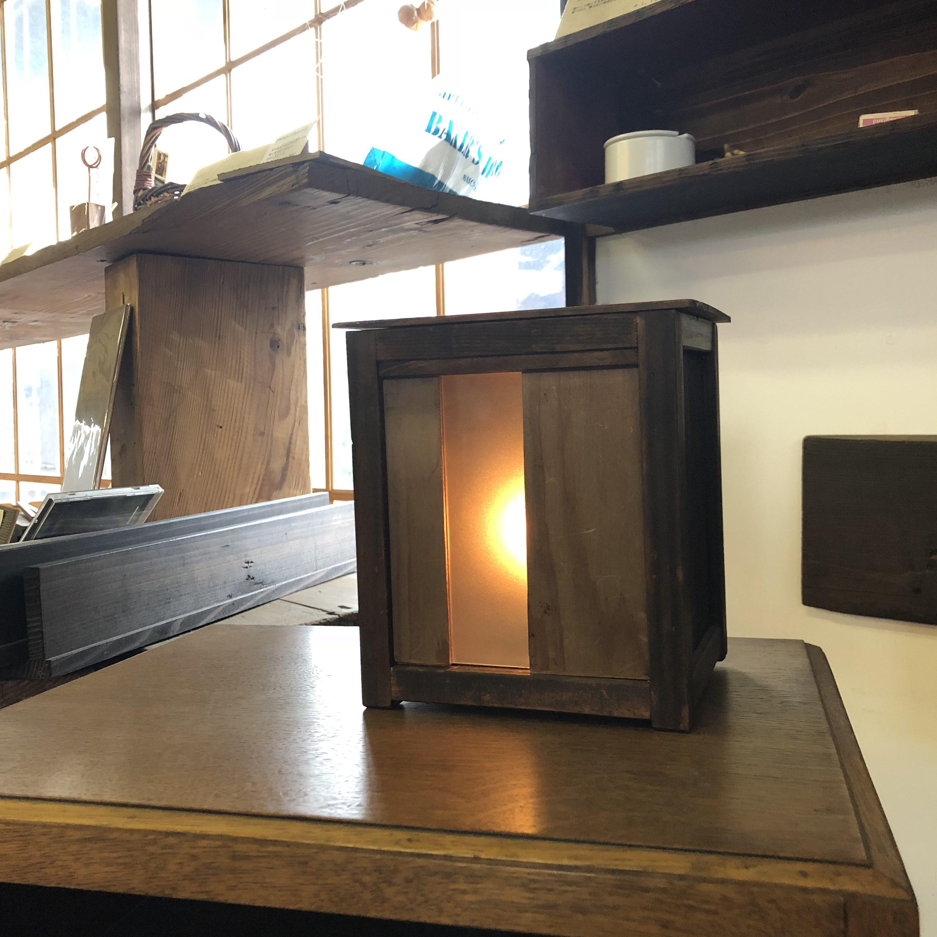 古材家具ショップはくたけの「古材のランプシェード」