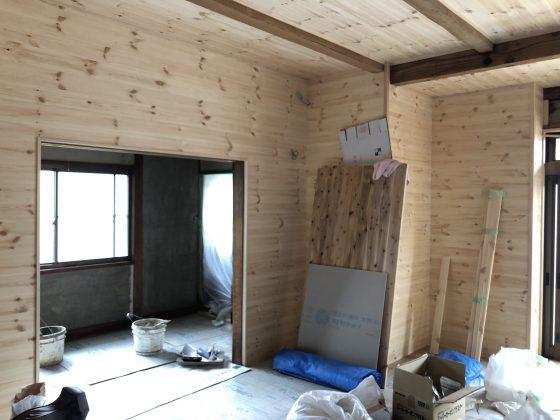 -自然素材の家-現在、リフォームの工事経過を写真でご紹介します。